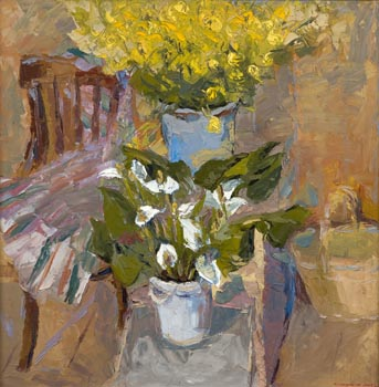 Two bouquets of the Princess Frog. Oil on canvas, 100 х 100 cm (39.4 x 39.4 inches). 2005