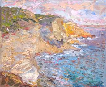 Corsica. The rocks of Bonifacio. Oil on canvas, 50 х 61 cm (19.7 х 24 inches). 2005. Private collection