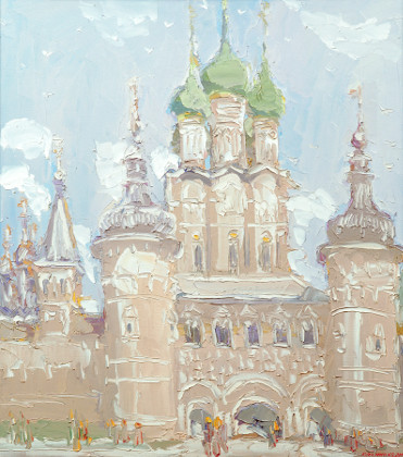 Rostov Veliki. Andrey Rublov's Day of Glory. Oil on canvas, 90 x 80 cm (35.4 x 31.5 inches). 2000