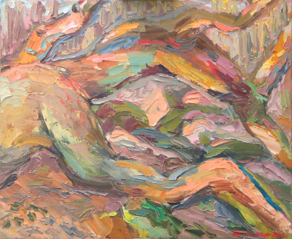 Fallen oak. Oil on canvas, 50 х 61 cm (19.7 x 24 inches). 2010. Private collection