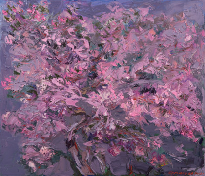 For every one to blossom. Oil on canvas, 60 х 70 cm (23.6 x 27.6 inches). 2008