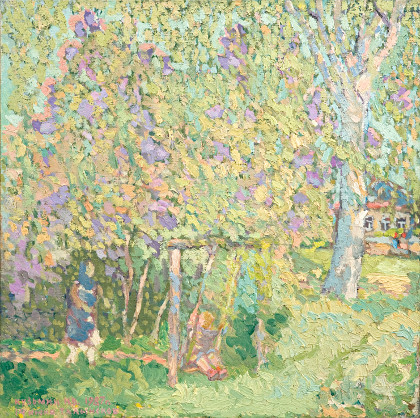 Spring has come. Oil on canvas, 64 x 64 cm (25.2 x 25.2 inches) 1987