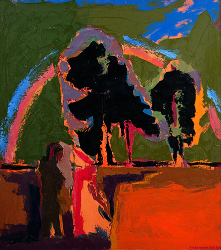 The farewell. Oil on canvas, 100 x 90 cm (39.4 x 35.4 inches). 2002.
