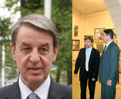 The Ambassador of Russia in France, who is an art collector,  has visited the artist's exhibition in Versailles
