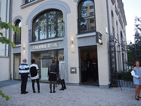 The inauguration of the new Matthieu Dubuc art gallery