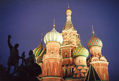 The Basil the Blessed cathedral on the Red Square in Moscow